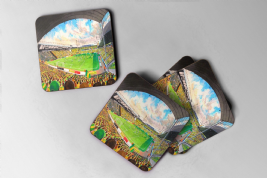 carrow road  Coaster set of four